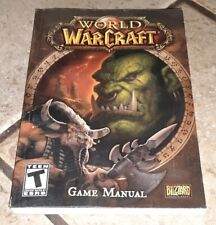 Blizzard World of WarCraft Game Manual Book WOW Collector Item Game not included