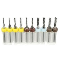 Milling Cutters Kit Set Mini PCB Carbide Tool End Mill CNC Cutting Bits With Box