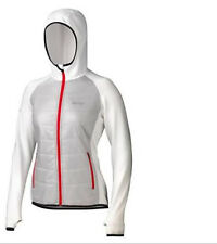 $185 Marmot Women Variant Polartec Hooded Power Stretch jacket XL ski Platinum