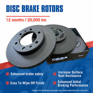 Pair Front Disc Brake Rotors for Hino Dutro Toyota Dyna 200 300 400
