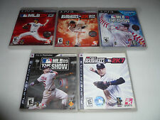 PLAYSTATION 3 BASEBALL GAME LOT MLB 2K7 2K12 2K13 09 11 THE SHOW MAJOR LEAGUE >>