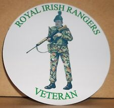 Royal Irish Rangers vinyl sticker personalised free..