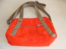 KIPLING ORANGE NYLON SHOULDER BAG DOUBLE HANDLES - ADJ.SHOULDER STRAP - EUC