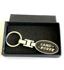 Land Rover SILVER and BLACK Key Chain Key Ring Stainless Steel in a Black Box
