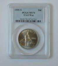 1995-S 50C Civil War Commemorative Half PCGS MS70 Silver Coin