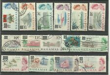 Bahamas 1966 Full Set of 15 Decimal Currency Issues, Sg 273-287, F/U [C/W 139]