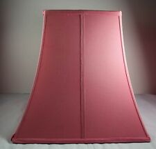 Pink Square Lamp Shade With Bell Curved Sides 12.5 inches (height)