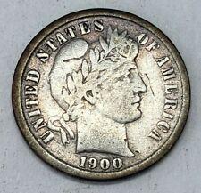 New listing Us 1900 S Barber Dime *Huge Coin Estate!*