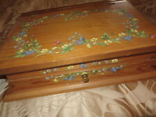 WRITING BOX -HAND PAINTED  FLORAL DESIGN C1990'S- VERY UNIQUE