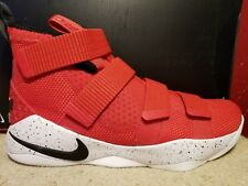 NIKE LEBRON SOLDIER XI 11 Size 9 Black Red Ohio State 897644-601 Mens Shoes