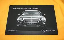 Mercedes Maybach S600 Pullman 2015 English Brochure Depliant Catalog Prospekt