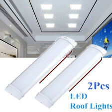 2X12V LED Interior Lights Roof Ceiling Lamp For RV Camper Trailer Motorhome Van