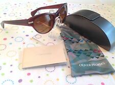 OLIVER PEOPLES OV5199-S 1053/9P KOSSLYN 55 RED CATEYE BROWN POLARIZED SUNGLASS