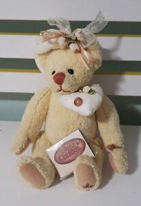 THE GANZ COTTAGE TEDDY BEAR  28CM TAGS! LORRAINE CHIEN! CC11249 VANILLA