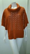 Vintage Suzie Turtleneck Sweater with 3/4 batwing sleeves. XL/Rust