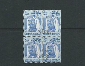 BAHRAIN 1976-80 SHEIK ISA (Scott 237 500f) VF USED block of 4