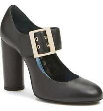 New $795 Lanvin Newa Black Leather Mary Jane Pump 39/9