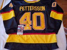ELIAS PETTERRSON signed custom CANUCKS vintage jersey JSA COA SIZE XL
