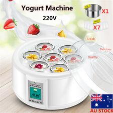 1.5L 220V Yoghurt Maker Rice Wine Automatic Machine With 7 Glass Jars Xmas Gift
