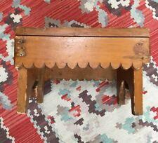 AAFA Primitive Antique Maine Four Legged Wood Foot Stool