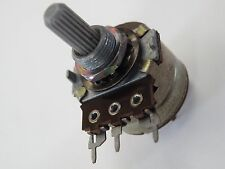 Switched Potentiometer Pot 2.2 Meg 2M2 Log +  Switch Splined 6mm Shaft EU24