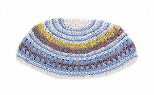 Frik Kippah Skull Cap Yarmulke Yamaka Crochet Colorful Striped Israel 26 cm