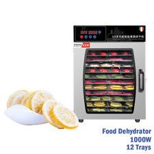 Food Dehydrator Meat Fruit Dryer Jerky Maker 12 Trays Timer Temperature Control