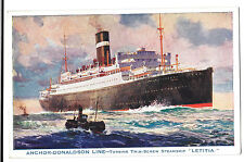 "Anchor Donaldson Line, Turbine Twin Screw Steamship ""Letitia"" Unposted"
