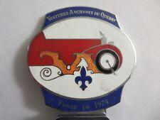 Vintage Voitures Anciennes du Quebec Car Club Grille Badge Emblem Montreal