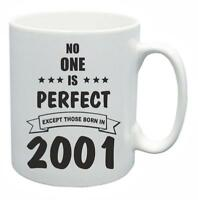 18th Novelty Birthday Gift Present Tea Mug No One Is Perfect 2001 Coffee Cup