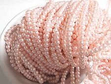 630pcs 4mm GLASS PEARL Faux Imitation Beads - LIGHT / BABY PINK ( 3 strands )