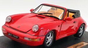 Anson 1/18 Scale Model Car 30309 - Porsche 911 Carrera 4 Cabriolet - Red