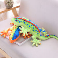 LIFELIKE GECKO REPTILE ANIMAL PLUSH STUFFED DOLL SOFT BED DECOR TRICK TOY SMART