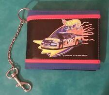 1998 Hot Wheels Racing Chain Wallet Car Pontiac Kyle Petty Mattel Black Blue Red