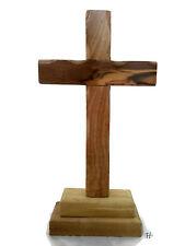 """8"""" 20 cm Olive Wood Standing Altar Table Cross Christian Bethlehem Holyland"""