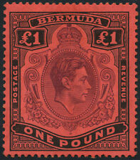 Mint Hinged Single Bermudian Stamps