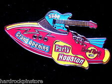 Houston 2000 GRAND OPENING PARTY ROCKET ~ MINT in BOX Hard Rock Cafe GUITAR Pin