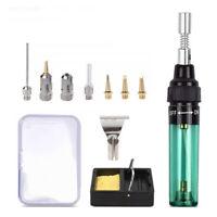 DIY Butane Gas Soldering Iron Cordless Welding Torch Pen Tip Tool Kit Cordless
