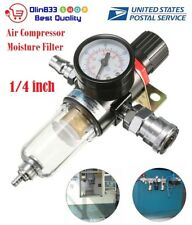 Afr 2000 14 Air Compressor Filter Water Separator Trap Tools W Regulator Gauge