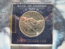 Uganda 1968 5 Shillings crown-size coin FAO UNC cased
