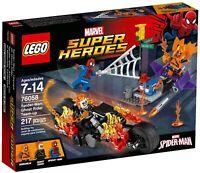 NEW LEGO Marvel Super Heroes 76058 Spider-Man Ghost Rider Team-up + Bike, Glider