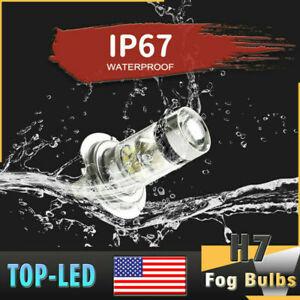 H7 Super White 100W LED Fog Driving Lights Bulbs DRL Lamp Headlight Kit 6000K
