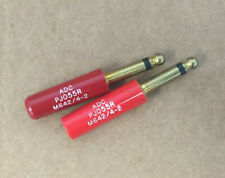 LOT OF 2 ADC M642/4-2 TELEPHONE & HEADSET PLUG FOR MILITARY RADIO PJ-055R
