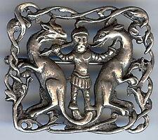 & Slayer Pin Brooch* *Vintage Sterling Silver Ornate Dragons
