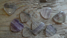 Heart Valentines FLUORITE sizes vary around 25mm MmMmMm (pkg 8)