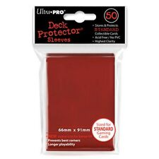 ULTRA PRO 50CT RED STANDARD DECK PROTECTOR SLEEVES #82672 NEW