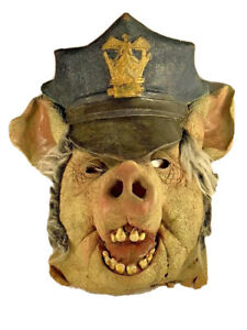 Halloween Mask - Disguise Costume   Adult One Size   Navy Zombie Pig Head