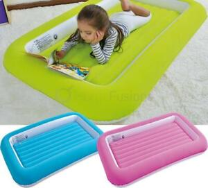 KIDS CHILDREN INFLATABLE SAFETY FLOCKED KIDDY AIRBED TODDLERS CAMPING AIR BED