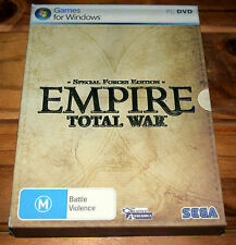 Empire Total War Special Forces Edition PC Game (Complete in Box) STEAM Key Used