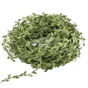 40m Artificial Flowers Silk Ivy Vines Ribbon Green Leaf Hanging Garland Plant 'F